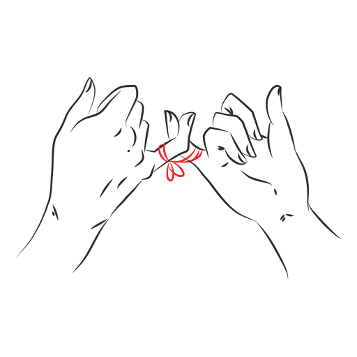 Red string of fate pinkies
