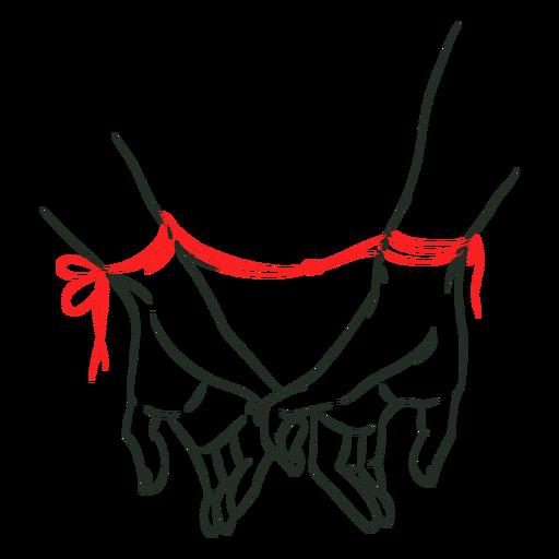 Red string on hands Transparent PNG
