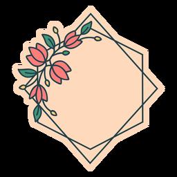 Quadro floral de losango
