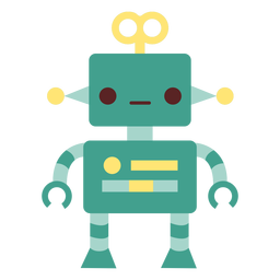 Roboter Spielzeug flach