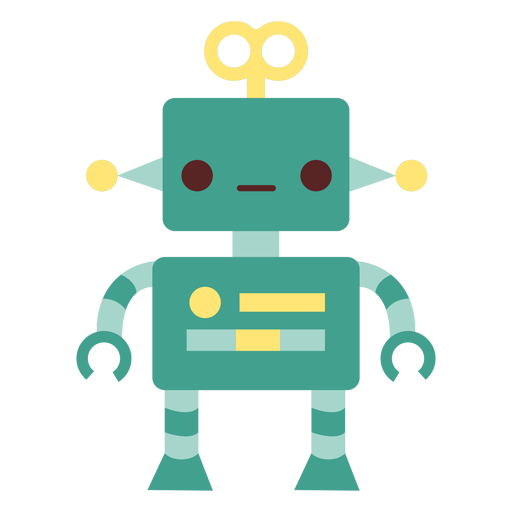 Robot de juguete plano
