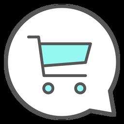 Carro de compras en burbuja de conversación