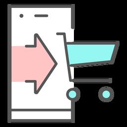 Ícone de cor do aplicativo comercial