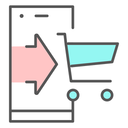 Shopping app color icon