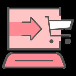 Icono de color de compras en línea
