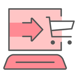 Shopping online color icon
