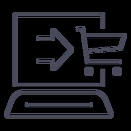 Compras on-line ícone