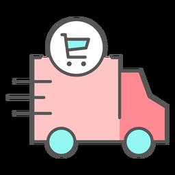 Icono de color de entrega de compras