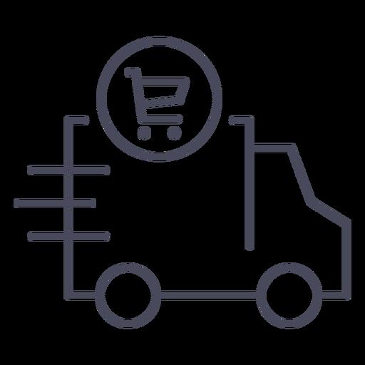 Icono de entrega de compras