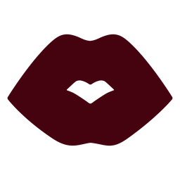 Simple kiss lips silhouette