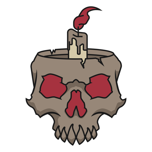 Skull with candle Transparent PNG