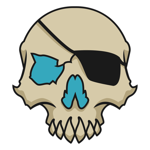 Skull with eyepatch Transparent PNG