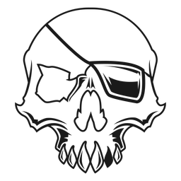 Skull with eyepatch illustration
