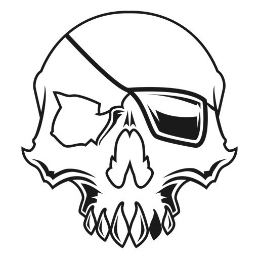 Skull with eyepatch illustration Transparent PNG