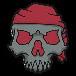 Skull with headband