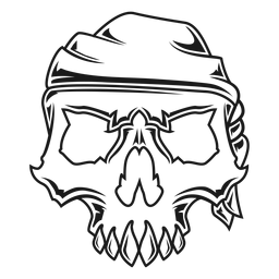Skull with headband illustration