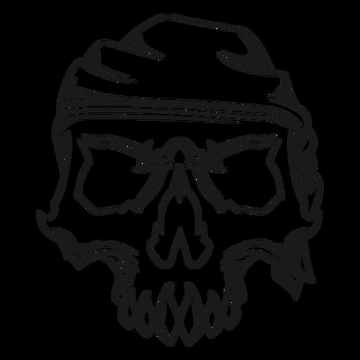 Skull with headband illustration