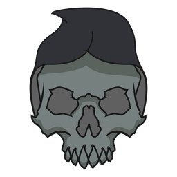 Skull with hood