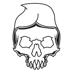 Skull with hood illustration