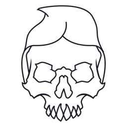 Skull with hood stroke