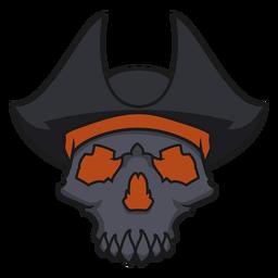 Calavera con sombrero de pirata