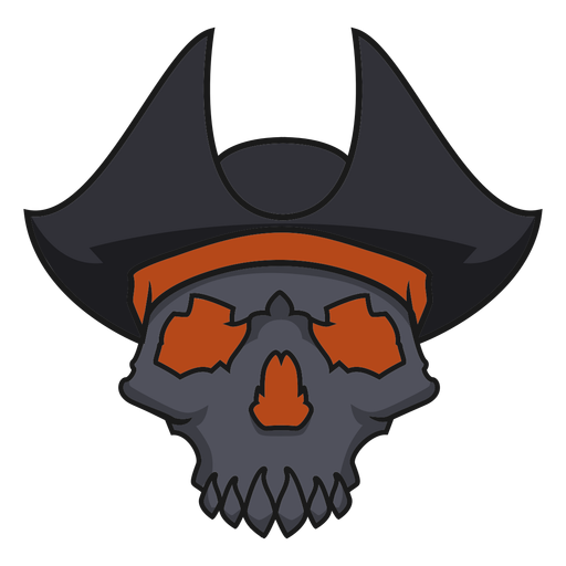 Skull with pirate hat Transparent PNG