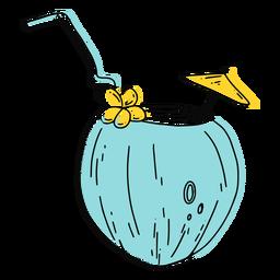 Golpe de bebida de coco Skyblue