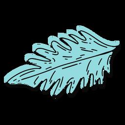 Curso de folha de palmeira Skyblue