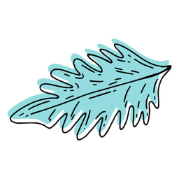 Trazo de hoja de palma azul cielo