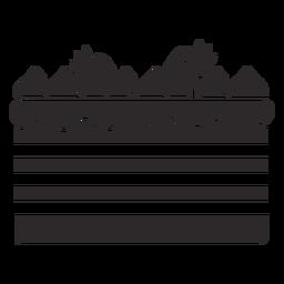 Tarta de fresas en capas negro