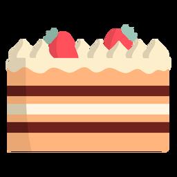 Tarta de fresa y chocolate plana