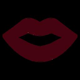 Silhueta de boca falante