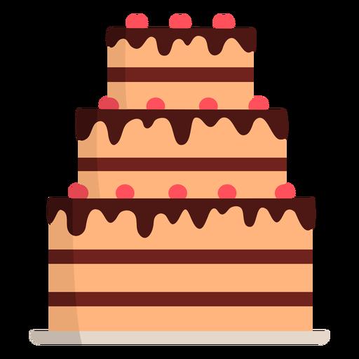Three layered cake flat