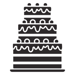 Dreischichtiger Kuchen schwarz