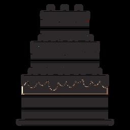 Pastel de tres capas negro