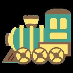 Tren motor juguete plano