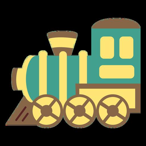 Train engine toy flat