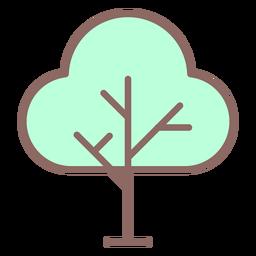 Tree icon flat