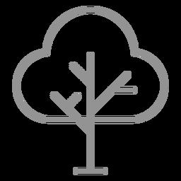 Icono de trazo de árbol