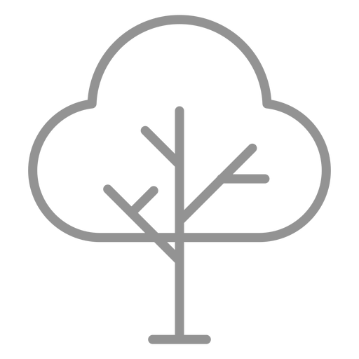 Tree icon stroke Transparent PNG