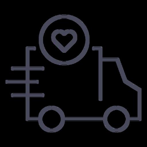 Caminhão com ícone de coração