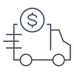 Truck with money icon