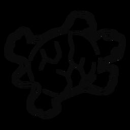 Curso de brinquedo de praia de tartaruga