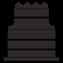 Zweischichtiger Kuchen schwarz