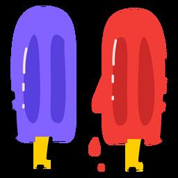 Two ice cream sticks flat