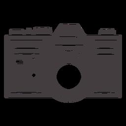 Ícone de câmera analógica vintage preto