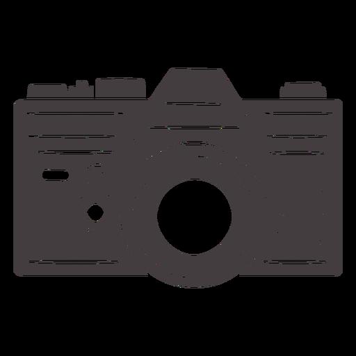 Icono de cámara analógica vintage negro Transparent PNG