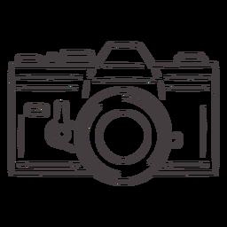 Ícone de traçado de câmera analógica vintage