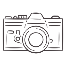 Vintage analogue camera stroke icon