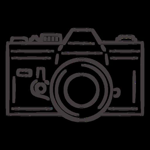Icono de trazo de cámara analógica vintage